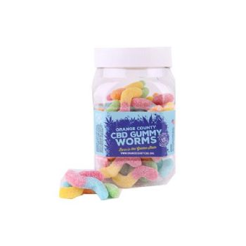 Orange County CBD 25mg Gummy Worms Large Pack